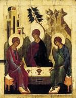 Троица Ветхозаветная. Середина XVI в. День Святой Троицы, иконы