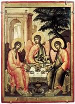 Троица Ветхозаветная. 1671. Симон Ушаков День Святой Троицы, иконы