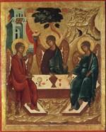 Троица Ветхозаветная. Н.Истомин День Святой Троицы, иконы