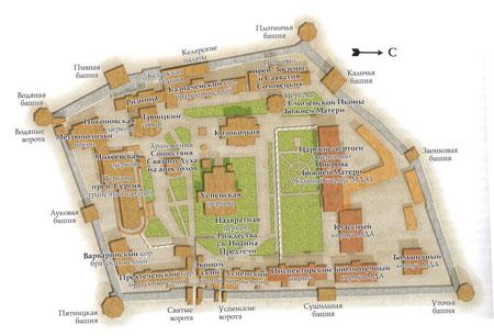Карта Троице-Сергиевой Лавры
