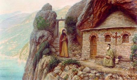 Паломничество преподобного Антония Киево-Печерского на Афон в 1015 году.