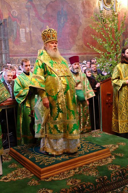 Литургию отслужил Святейший Патриарх Московский Алексий