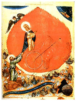 Огненное восхождение пророка Илии и пророк Елисей. Ильин день
