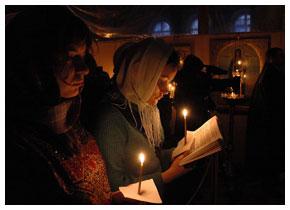 Чтение Великого Канона в Иоанновском монастыре Москвы. Фото: Патриархия.ру
