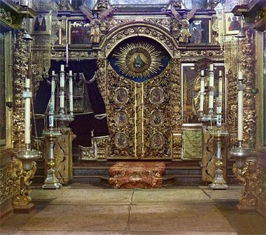 Иконостас в зимней церкви Федоровской Божьей Матери. Ярославль 1911г.