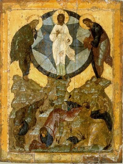 Храмовая икона церкви Спаса на Бору в Московском Кремле. 15 век