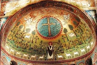 Преображение. Середина VI в. Церковь Св.Аполлинария, Равенна, Италия