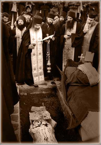Похороны игумена монастыря Есфигмен