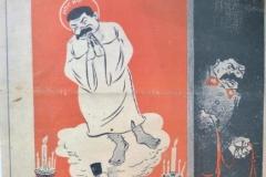 Карикатуры из газет, издаваемых  на захваченных фашистами территорий, содержащие критику религиозной  политики Сталина