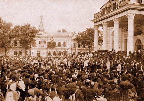 Вынос мощей из Успенского собора 19 июля 1903 г.
