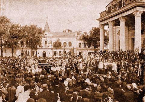 Крестный ход со св. мощами преп. Серафима, саровского чудотворца, 19 июля 1903 г.