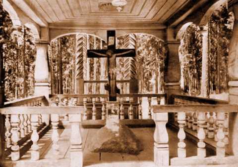 Камень, на котором преп. о. Серафим молился 1000 ночей