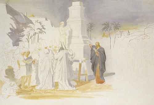 Великий вторник - Обличение книжников и фарисеев. Эскиз. Конец 1840-х – начало 1850-х годов