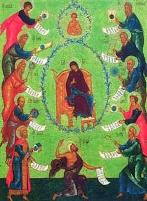Похвала Пресвятой Богородицы. Иконографическое изображение