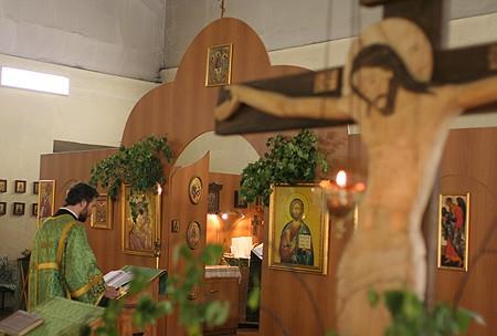 День Святой Троицы в приходе храма Всемилостивого Спаса