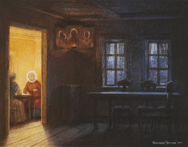 Святая гостья. Картина Александра Простева. Фото: danilovmaster.ru