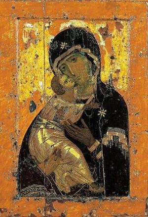 Владимирская икона Богородицы. Иконография