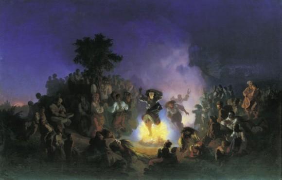 Иван СОКОЛОВ (1823-1918). Ночь на Ивана-Купалу. Холст, масло http://lj.rossia.org/users/bely_gorod/