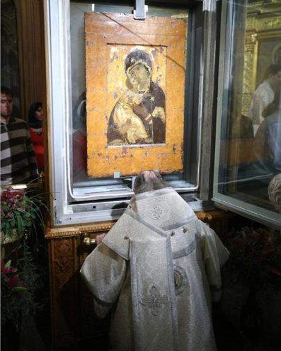 Владимирская икона Божией Матери в храме свт. Николая в Толмачах