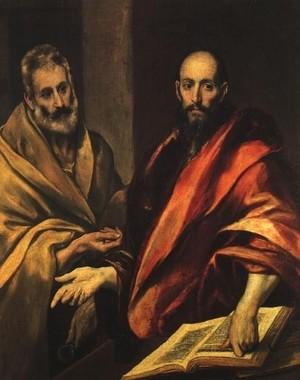 Апостолы Петр и Павел. Эль Греко 1587-92