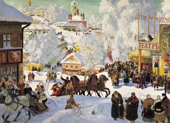 Б. Кустодиев. Масленица. 1919 г.