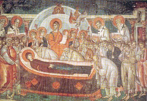 Иконография афонских икон успения пресвятой богородицы