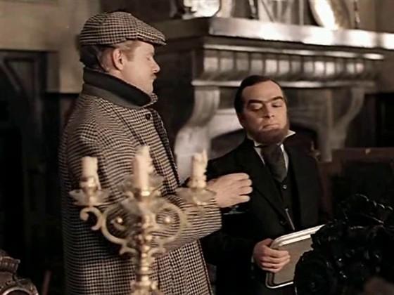 """Кадр из фильма """"Приключения Шерлока Холмса и доктора Ватсона: Собака Баскервилей"""""""