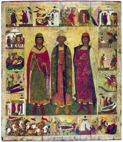 Икона святым Борису и Глебу