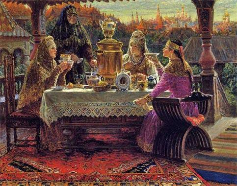 Только в начале xviii века чай прочно