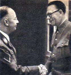 Рейхсфюрер СС Генрих Гиммлер и генерал-лейтенант А.А. Власов
