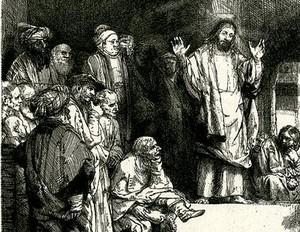 Проповедь Христа. 1652. Фрагмент.