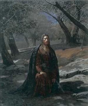 Н. Н. Ге. «В Гефсиманском саду». 1869 г
