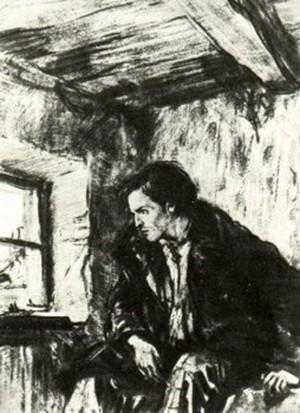 Иллюстрация Д. Шмаринова к роману «Преступление и наказание».