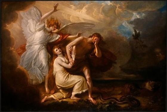 Изгнание Адама и Евы из рая. Бенджамин Уэст.