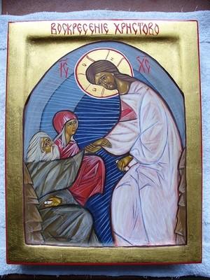 Пасхальная икона. Иконописец John Reves.