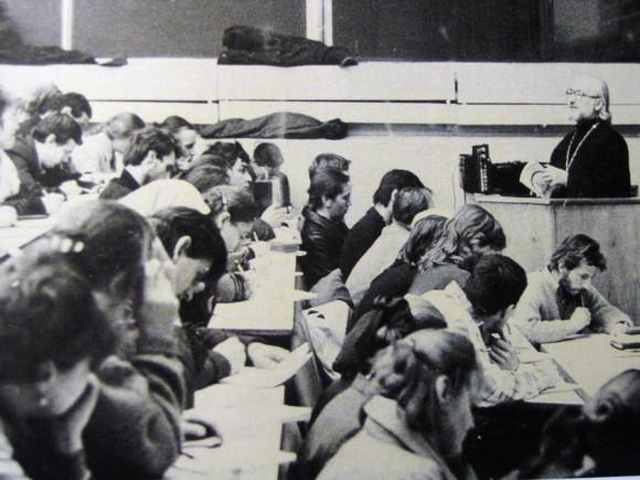 Лекция в Первом гуманитарном корпусе МГУ
