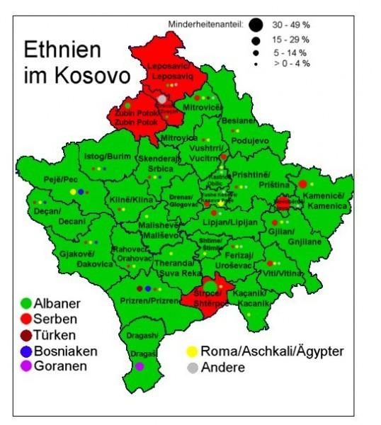 Этническая карта Косово. Источник: дневник Ирины Антанасиевич: http://iraan.livejournal.com/