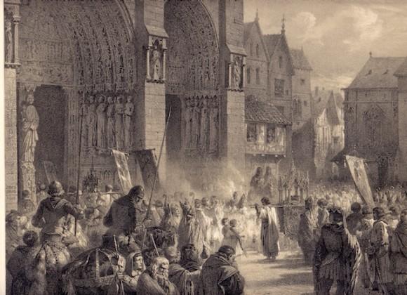 Людовик IX встречает Терновый венец