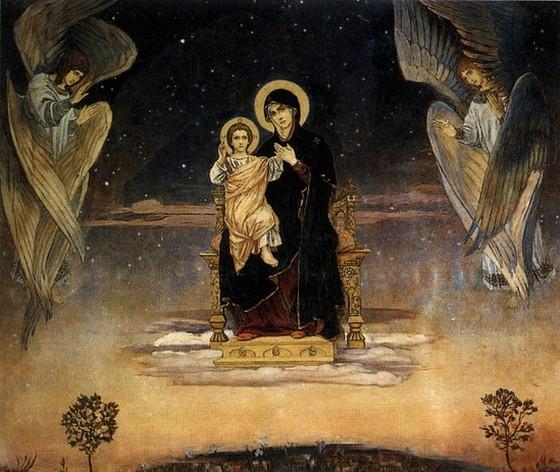 Богоматерь на троне (В.Васнецов, 1901г.)