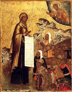 Боголюбская икона Богоматери их храма  Петра и Павла, что на Кулишках