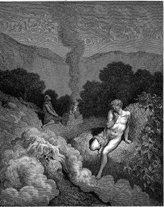 Г.Доре. Жертвоприношение Каина и Авеля