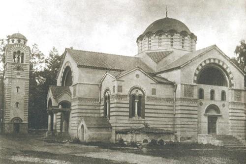 Церковь в Кунцеве до революции - дореволюционнная колокольня находилась с северо-запада от церкви