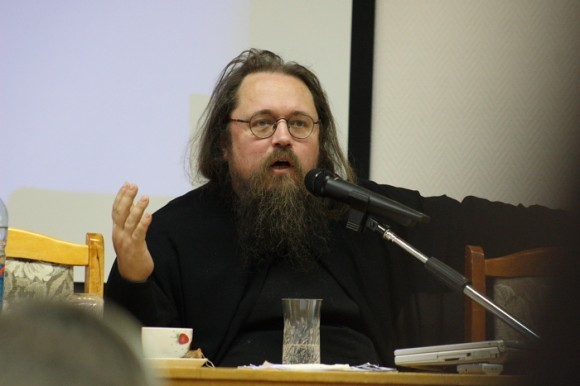 Отец Андрей Кураев на встрече с томскими педагогами. Фото: священник Дионисий Землянов