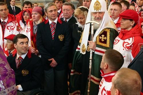Напутствие Паралимпийской сборной. Фото Михаила Моисеева