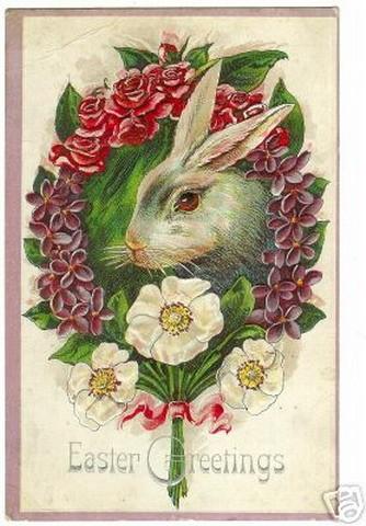 Картинка на Пасху с кроликом