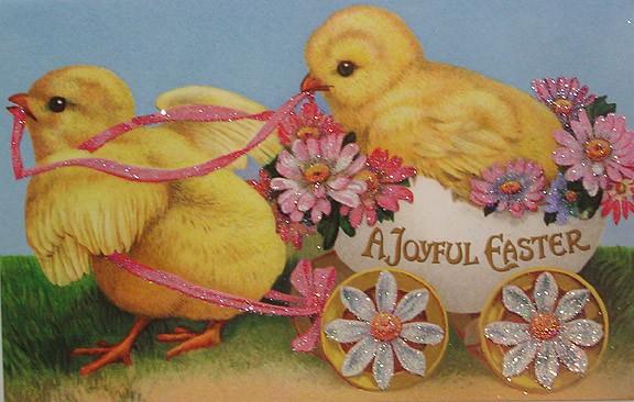 Пасхальная картинка с цыплятами