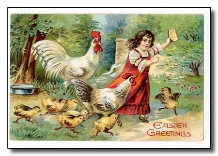 Зарубежная пасхальная открытка