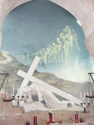 Изображение в часовне на III остановке Крестного Пути в Иерусалиме