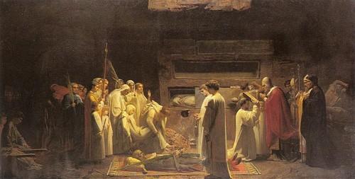 Jules_Eugene_Lenepveu_The_Martyrs_in_the_Catacombs – Ш.Ленепвё. Погребение мучеников в катакомбах. 1855 год