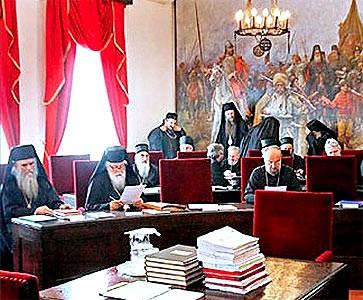 Заседание Архиерейского собора. Архивный снимок